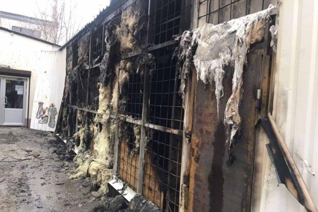 Под Харьковом сгорел магазин сантехники