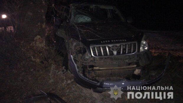 Под Харьковом женщина вылетела с дороги и врезалась в дерево: пострадали трое детей