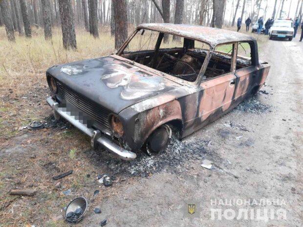 Под Харьковом подростки угнали автомобиль и сожгли его в лесополосе