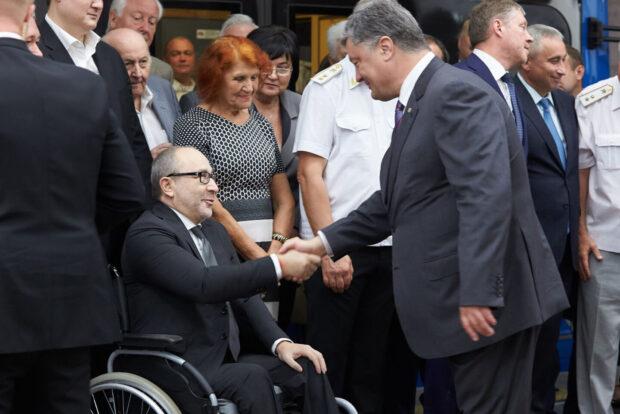 Геннадий Кернес и Петр Порошенко