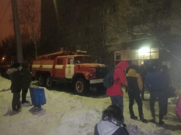 На Салтовке горело студенческое общежитие