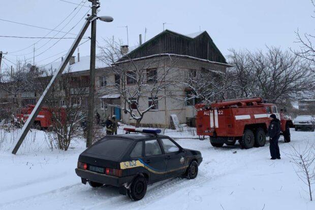 На пожаре под Харьковом обнаружили тело мужчины