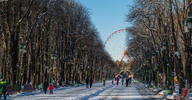 Аттракционы в парке Горького возобновили свою работу