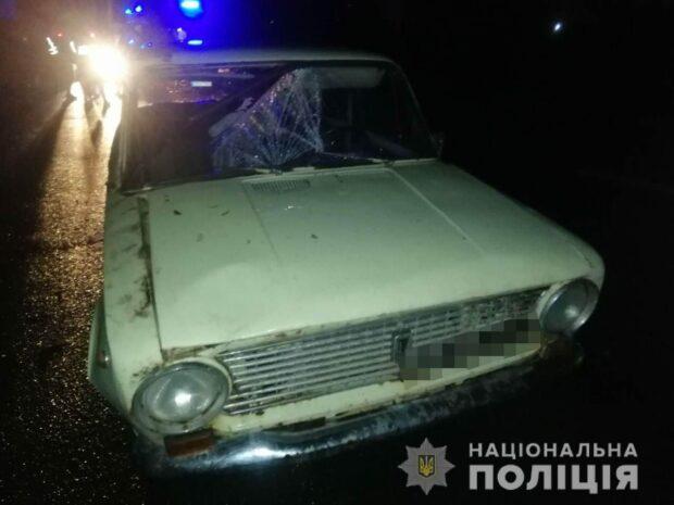 В Харькове пьяный пешеход попал под колеса автомобиля