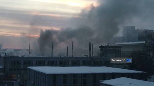 "В Харькове возле завода ""Хартрон"" горело частное предприятие"