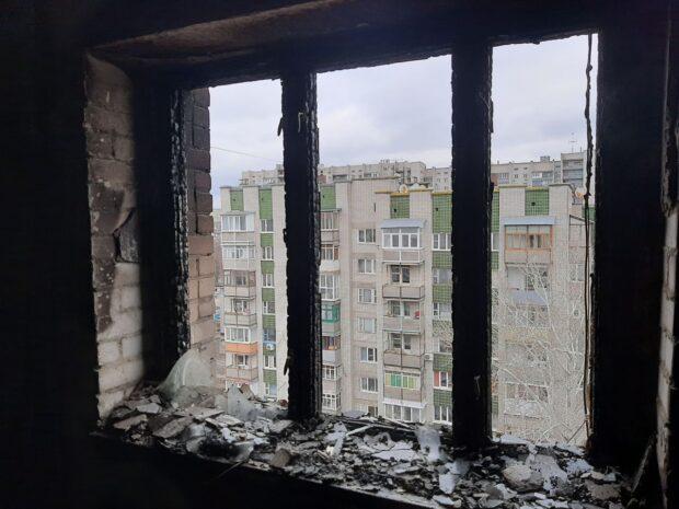 В Харькове на пожаре погиб мужчина