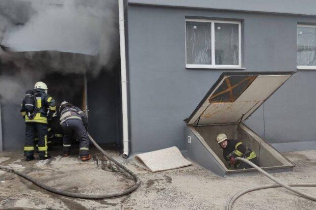 В Харькове горело офисное здание