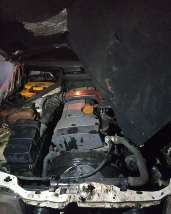 На Салтовке во время движения загорелся автомобиль