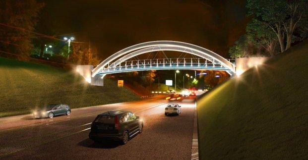 В центре Харькова реконструируют пешеходный мост