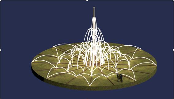 На проспекте Гагарина планируют установить световой фонтан за 6 млн гривен - ХАЦ