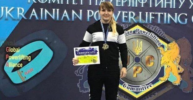Харьковская патрульная стала чемпионкой Украины по пауэрлифтингу