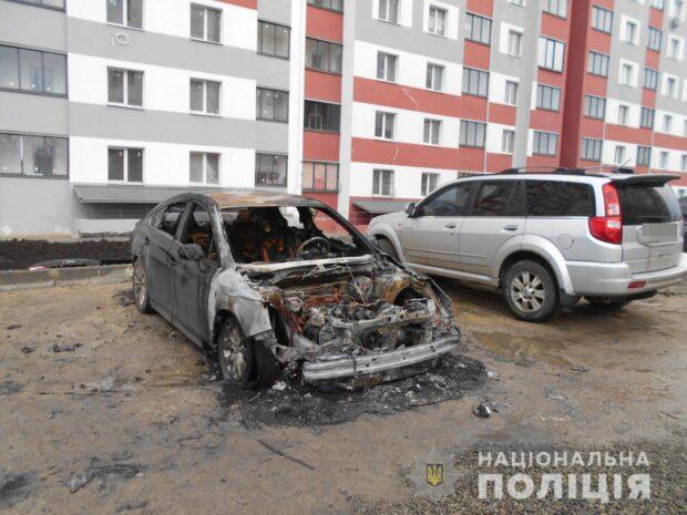"""Сожжённые в Киевском районе автомобили принадлежат сотрудникам газеты """"Время Добкина"""""""