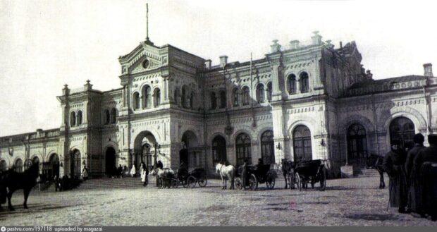 Первое здание вокзала в Харькове