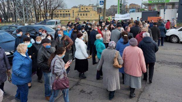 В Харькове протестуют работники ХАЗа