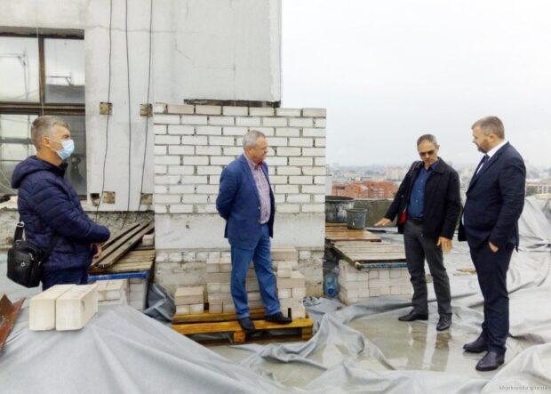 На смотровой площадке Госпрома готовятся выполнять отделочные работы