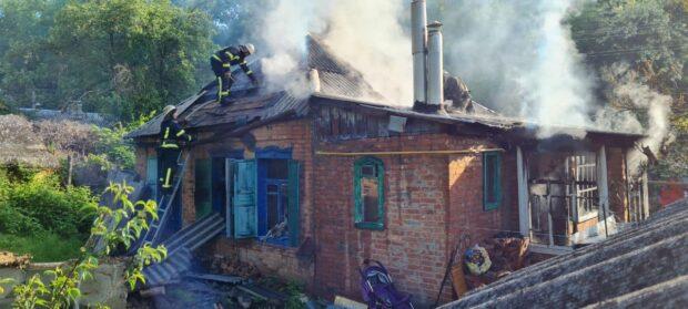 од Харьковом во время пожара пострадала мать с младенцем
