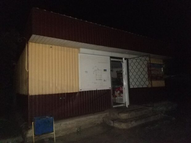 В селе под Харьковом из-за короткого замыкания горел торговый павильон