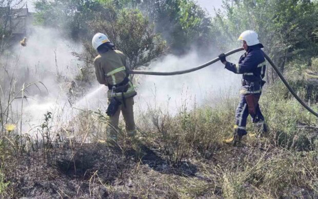 На Харьковщине пожарные четыре раза за сутки тушили пожары на открытых территориях