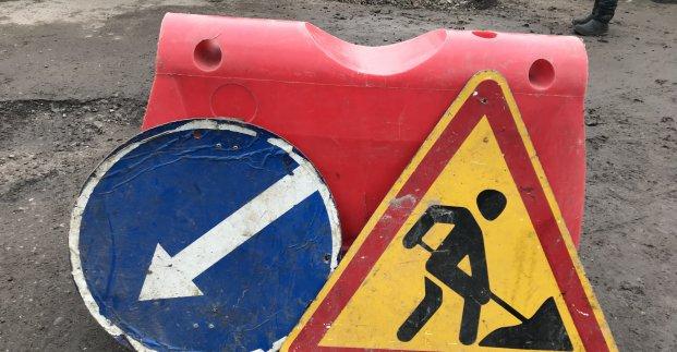 На улице Метростроителей движение запрещено до начала июля