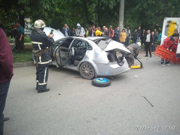 На Салтовке в результате ДТП пострадал мужчина