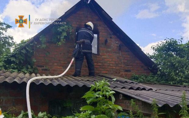 В Харьковской области из-за разряда молнии загорелся сарай
