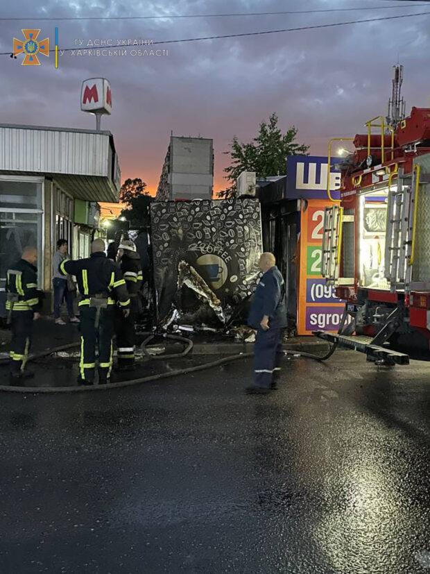 Сгоревшие ночью табачные киоски в Харькове принадлежат одному владельцу