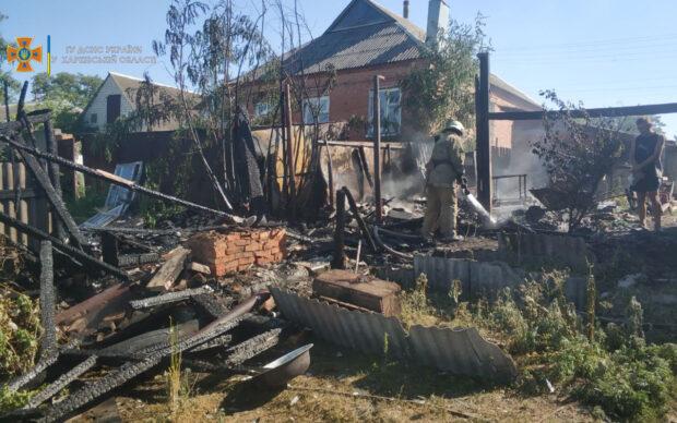 Под Харьковом на пожаре женщина получила 12% ожогов рук
