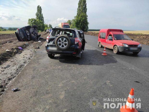 Под Харьковом в результате столкновения автомобилей погиб один из водителей