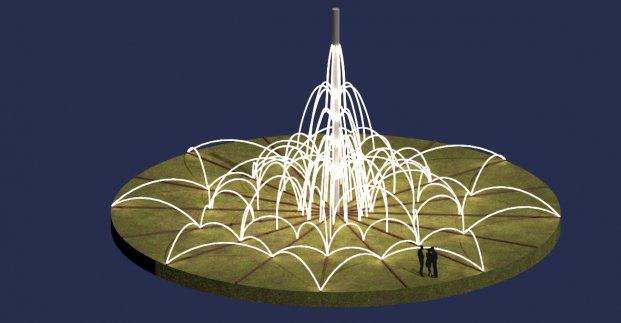 На проспекте Гагарина устанавливают световой фонтан
