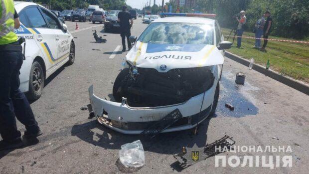 В Харькове полицейские попали в ДТП