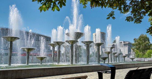 В Харькове заработал Олимпийский фонтан
