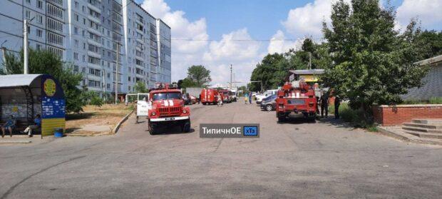 В поселке под Харьковом в десятиэтажном доме горела квартира