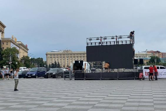 С 18:00 на площади Свободы в Харькове будет работать фан-зона