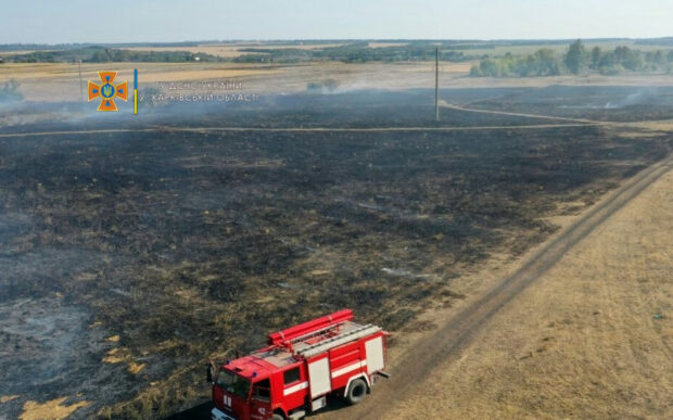 На Харьковщине спасатели призывают не выжигать сухую траву