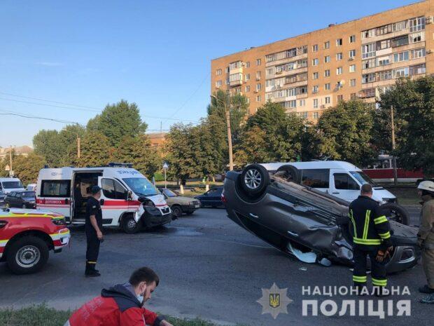 В Харькове произошло ДТП с участием кареты скорой