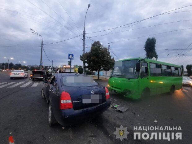 В Харькове в результате тройного ДТП пострадала 26-летняя девушка