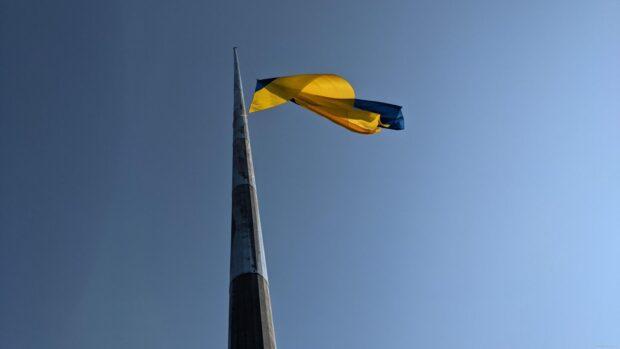 В Харькове на самый высокий в Европе флагшток подняли государственный флаг