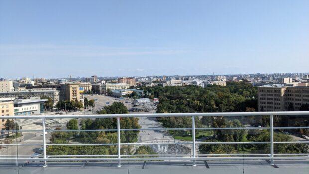 На Госпроме открыли смотровую площадку