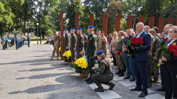 В Харькове почтили память защитников Украины