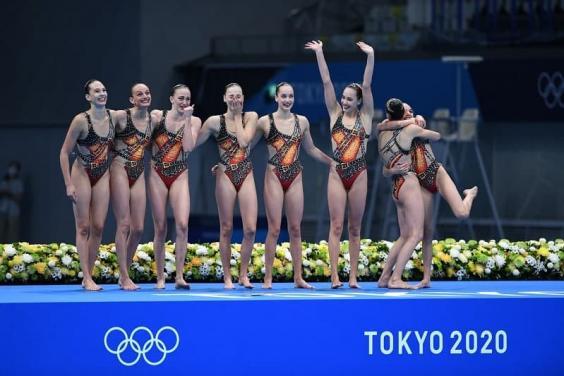 Харьковские синхронистки завоевали для Украины историческую бронзовую олимпийскую медаль в соревнованиях групп