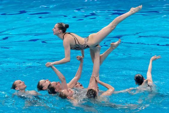 Харьковские синхронистки - третьи на Олимпиаде после технической программы групп