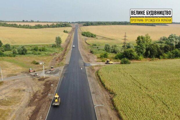 На окружной дороге уложили 44,4 км финишного слоя покрытия