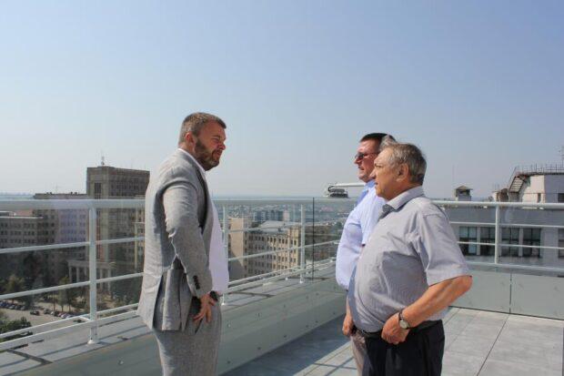 Строительство смотровой площадки на Госпроме – на завершающем этапе