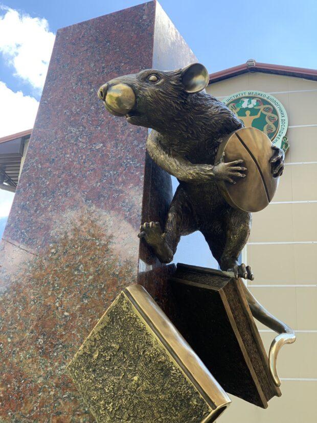 В фармацевтическом университете в Харькове установили памятник крысе