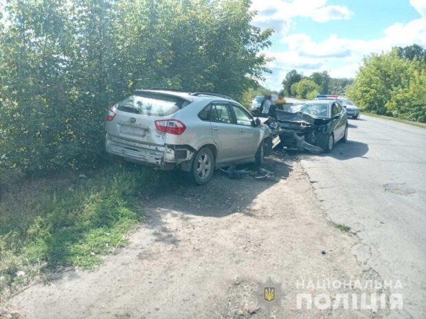 Под Харьковом в результате лобового столкновения автомобилей погибла женщина