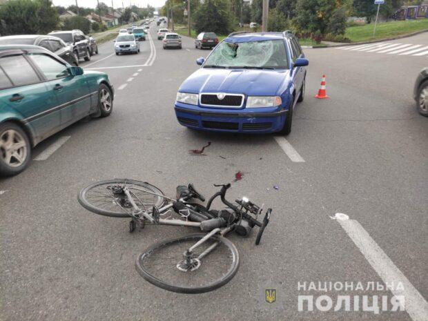 В Харькове в результате ДТП пострадал велосипедист: мужчину доставили в больницу