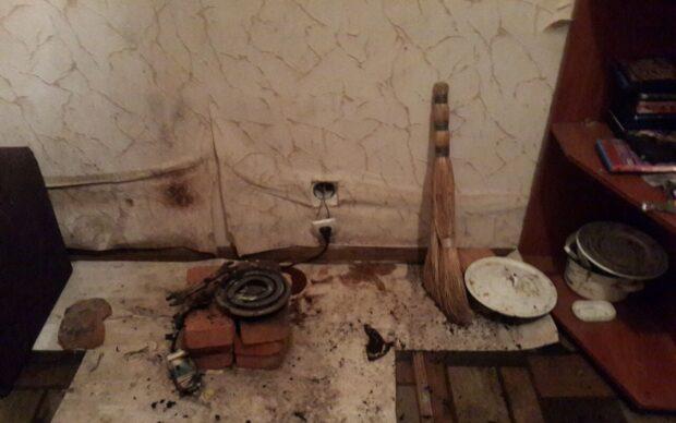 В Харькове в квартире погиб мужчина: упал на обогреватель и загорелся