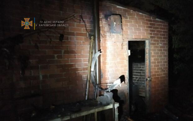 В Харькове сгорела летняя площадка в кафе