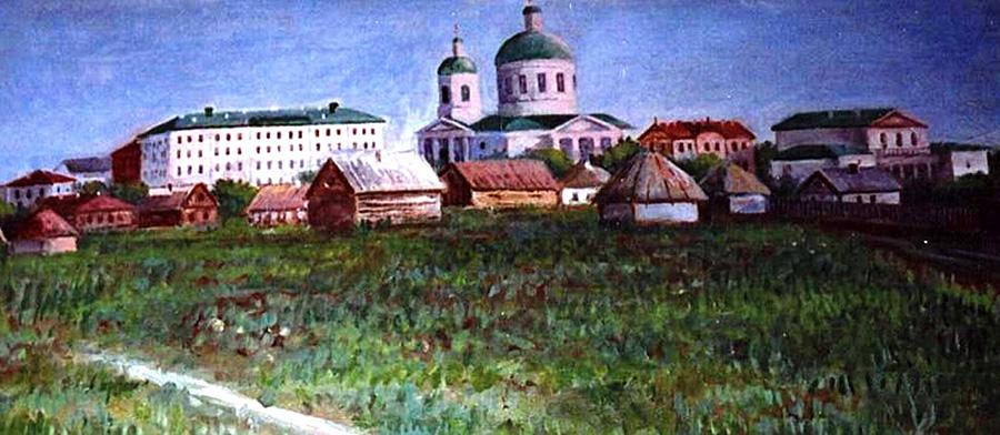 Николаевский городок. Слева - четырехэтажное здание Мариинского земледельческого училища