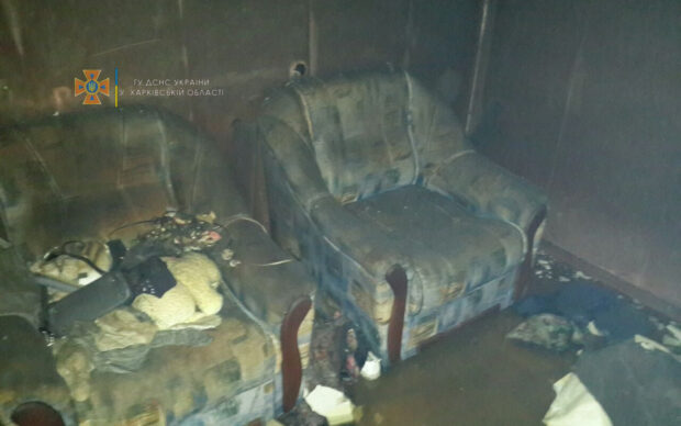 В Харькове на пожаре погибла женщина